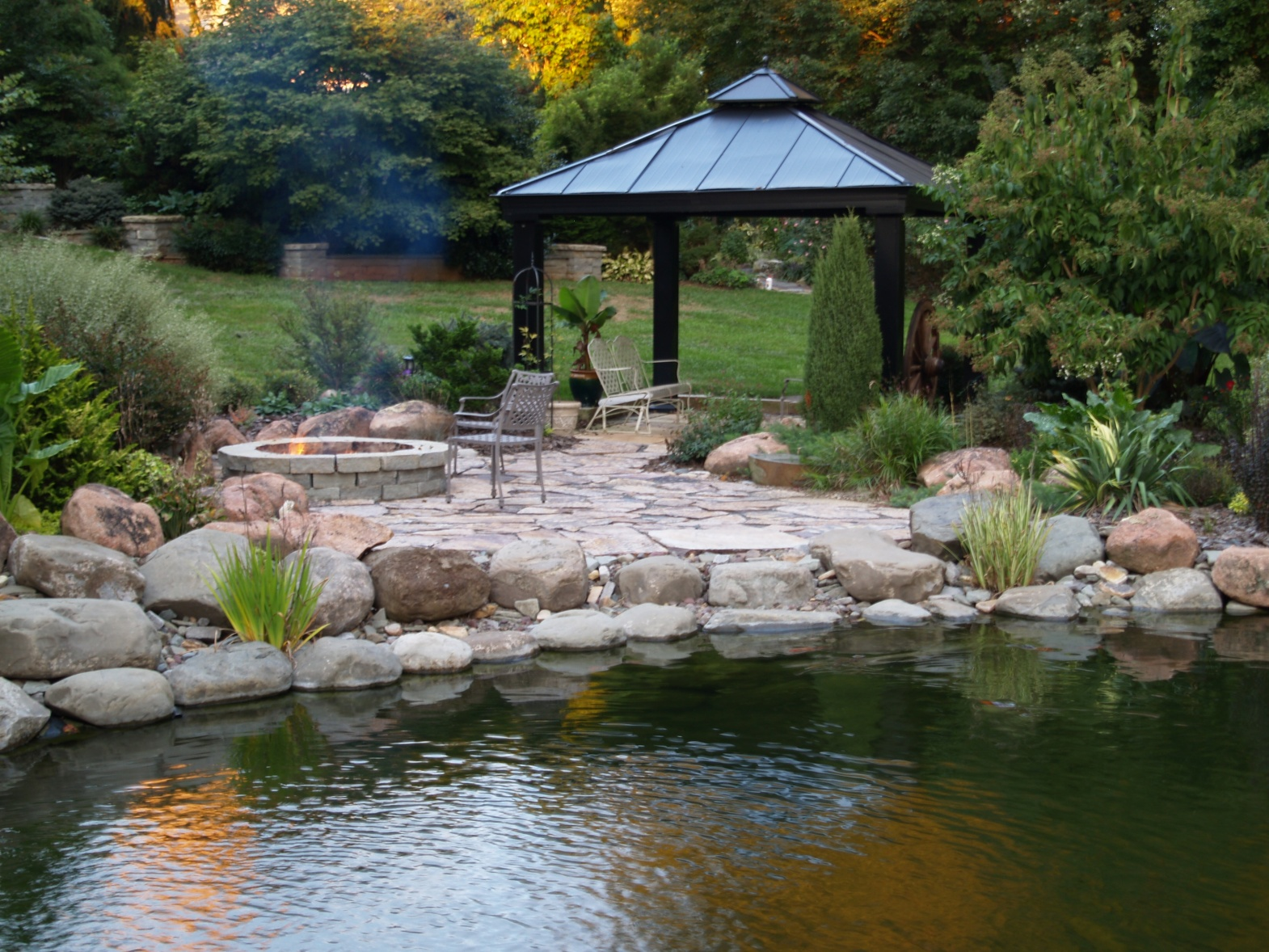 The swimming pond ramblin 39 through dave 39 s garden for Garden design ideas with pond